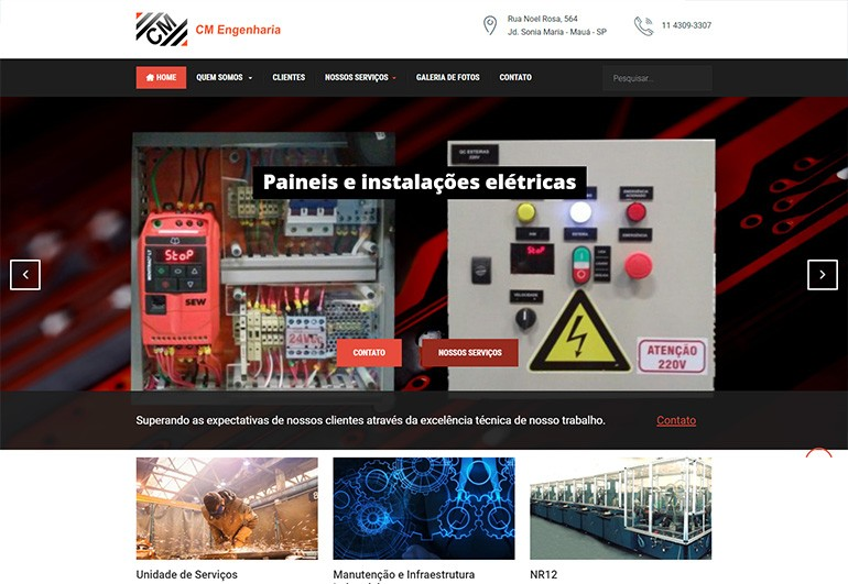 CM Engenharia - Site