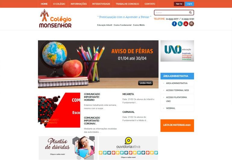 Colégio Monsenhor - Site